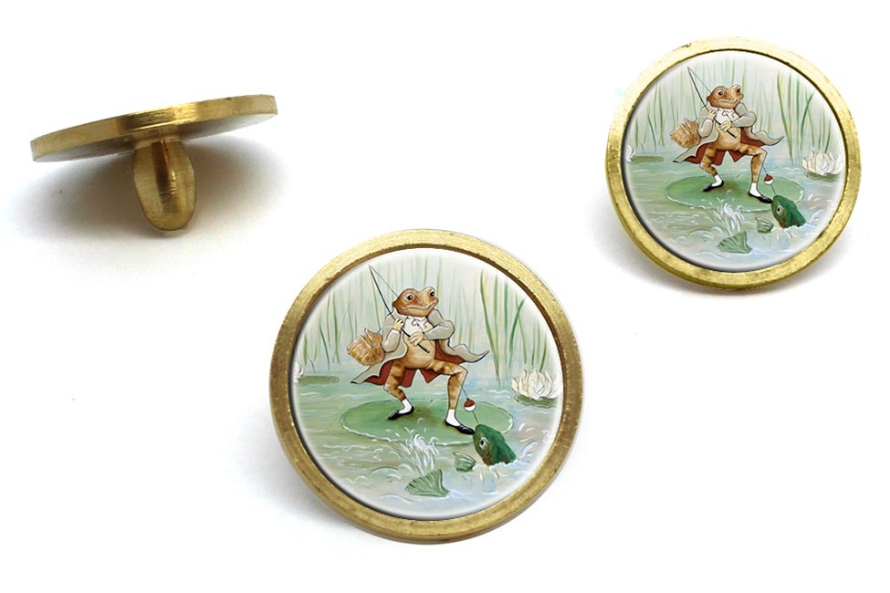 Angling Frog by Beatrix Potter  Golf Ball Marker Set
