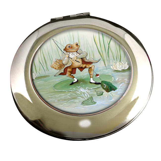 Angling Frog by Beatrix Potter  Round Mirror
