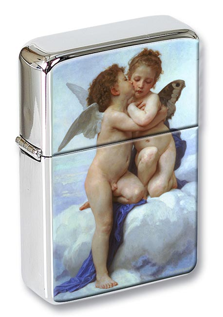 l'amour et psyche enfants by Bouguereau Flip Top Lighter