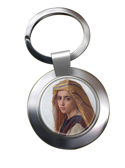 Pomegranate Girl by Bouguereau Chrome Key Ring