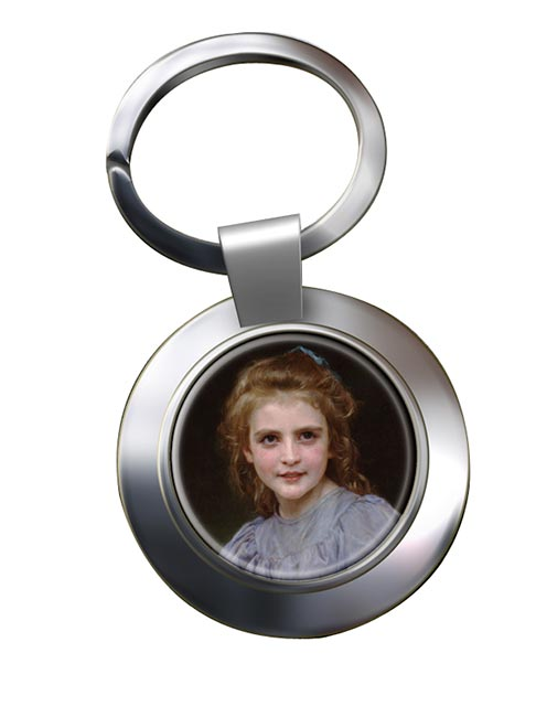Daisies by Bouguereau Chrome Key Ring