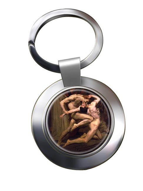 Dante and virgil by Bouguereau Chrome Key Ring