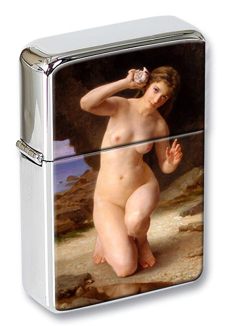 Femme au Coquillage by Bouguereau Flip Top Lighter