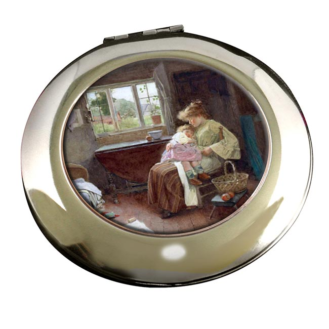 A Quiet Moment by Calton Alfred Smith Round Mirror