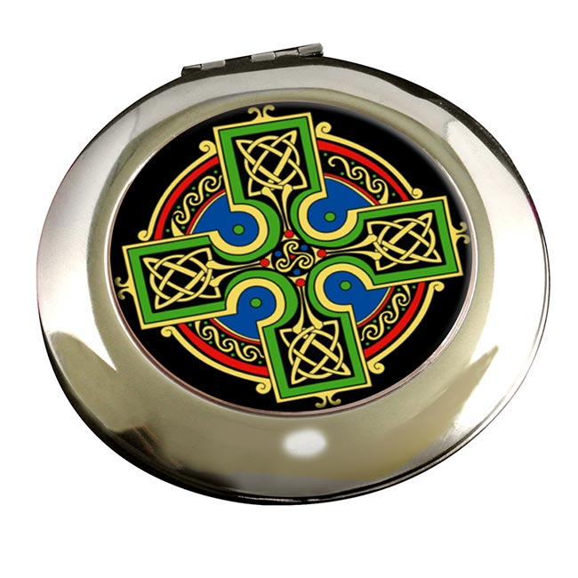Celtic Cross Round Mirror