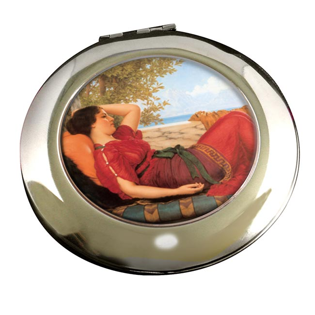 In Realms of Fancy by Godward Round Mirror