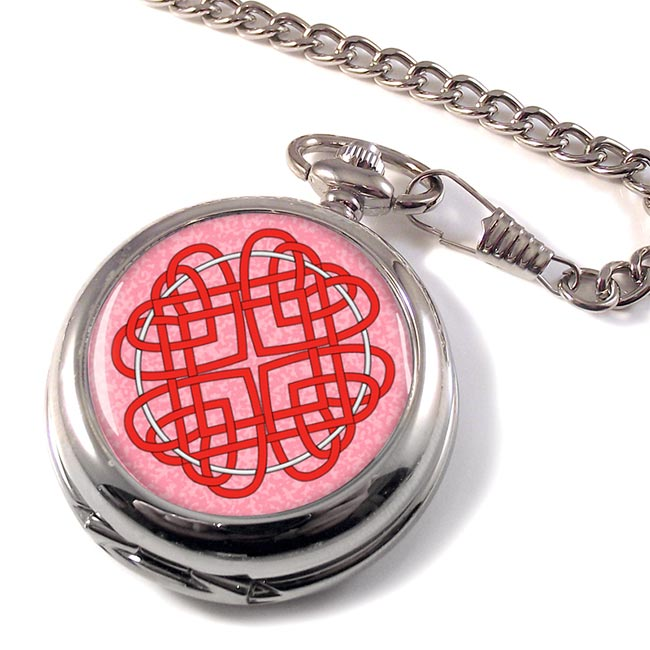 Celtic Heart Cross Pocket Watch