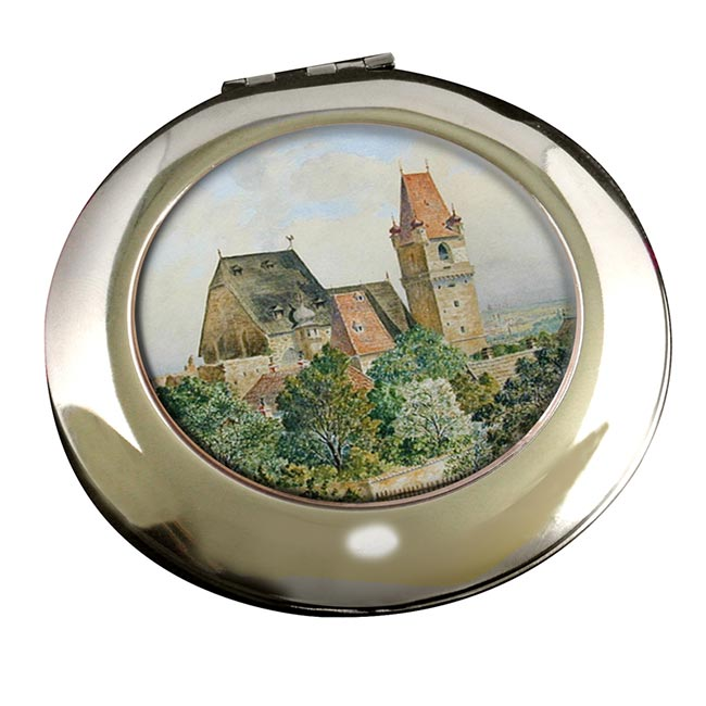 Austrian Church by Adolf Hitler Round Mirror
