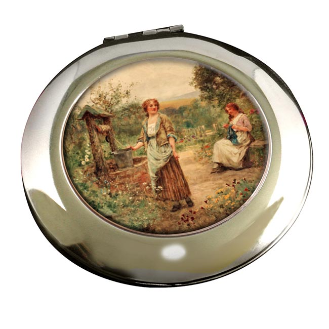 The Well by Henry King Round Mirror