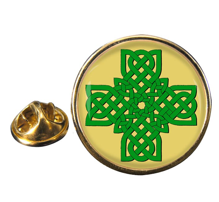 Irish Knot Cross Pin Badge