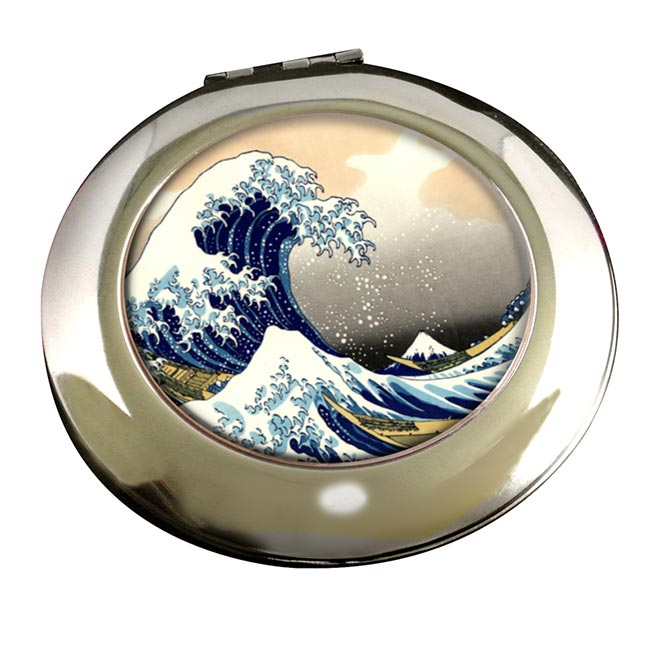 The Great Wave by Hokusai Round Mirror