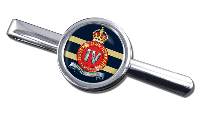 4th Queen's Own Hussars Round Tie Clip