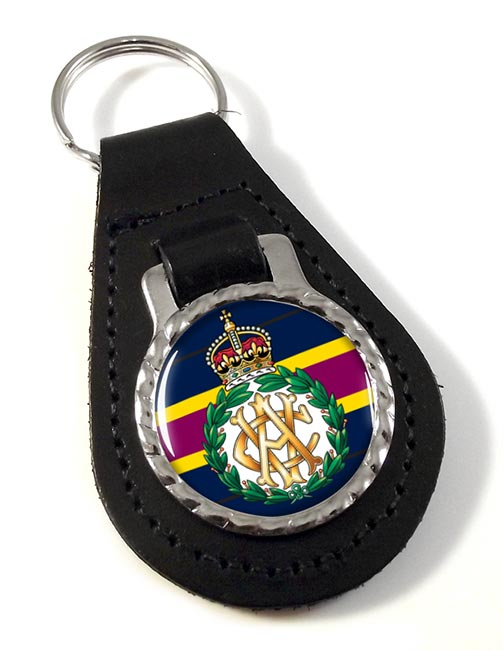 Army Veterinary Corps Leather Key Fob