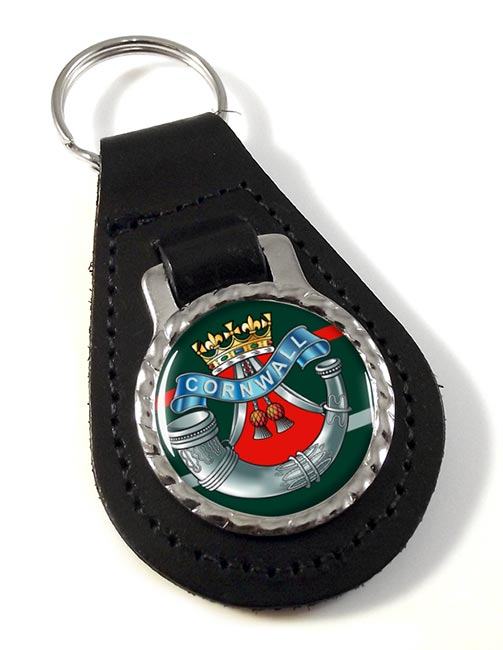Duke of Cornwall's Light Infantry Leather Key Fob