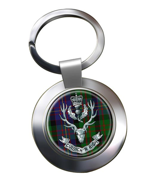 Queens Own Highlanders Chrome Key Ring
