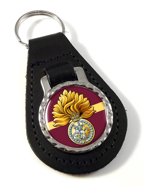 Royal Regiment of Fusiliers Badge Leather Key Fob