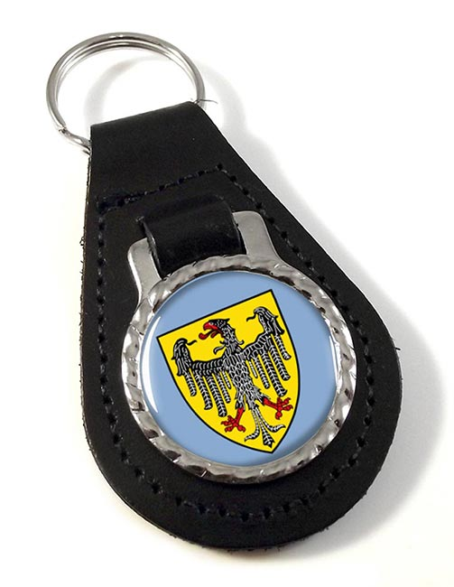 Aachen (Germany) Leather Key Fob