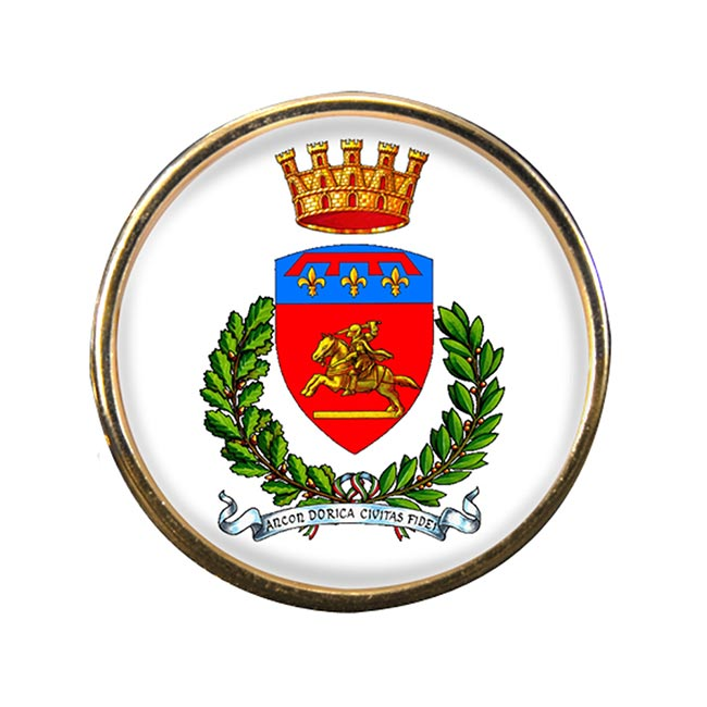 Ancona (Italy) Round Pin Badge