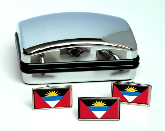 Antigua-and-Barbuda Flag Cufflink and Tie Pin Set