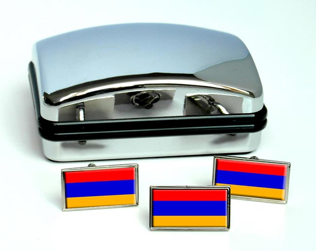 Armenia Flag Cufflink and Tie Pin Set
