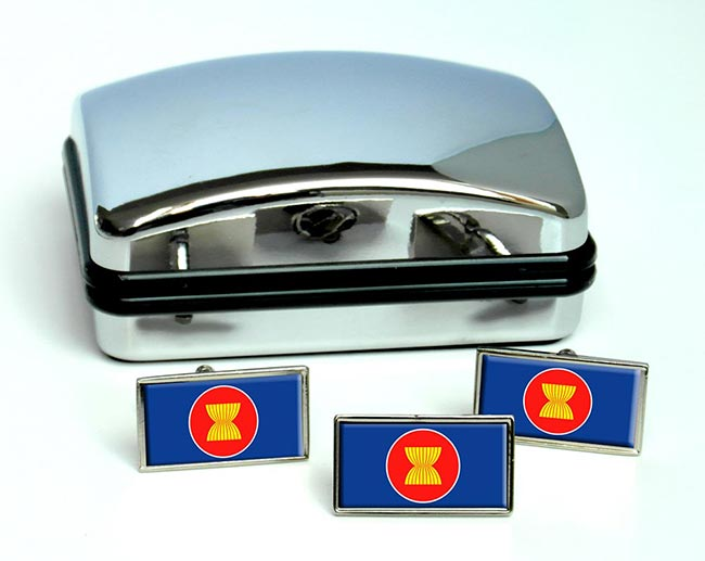 Association-of-Southeast-Asian-Nations-ASEAN Flag Cufflink and Tie Pin Set