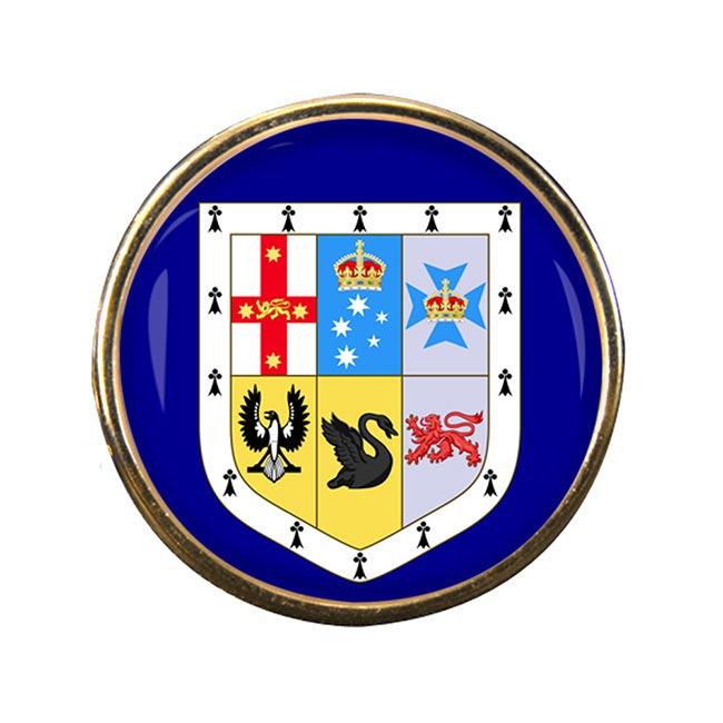 Australia Round Pin Badge