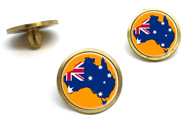 Australian Flag Map Golf Ball Marker