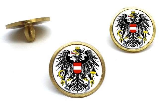 Austrian State Flag Golf Ball Marker