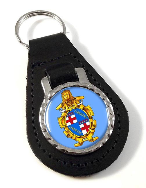 Bologna (Italy) Leather Key Fob