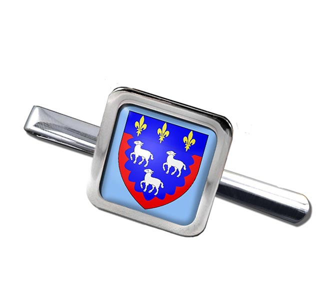 Bourges (France) Square Tie Clip