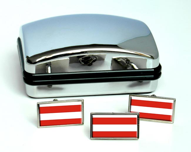 Brno (Czech) Flag Cufflink and Tie Pin Set