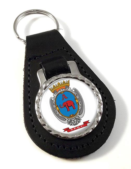 Catania (Italy) Leather Key Fob