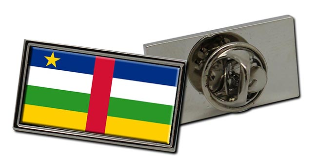 Central African Republic Flag Pin Badge