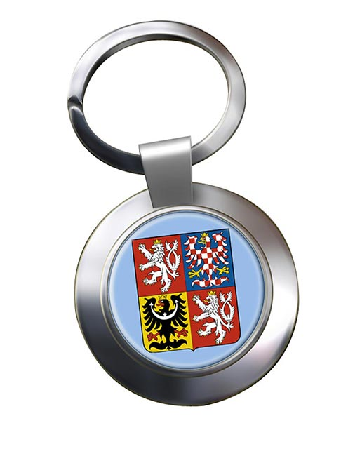 Czech Republic Metal Key Ring