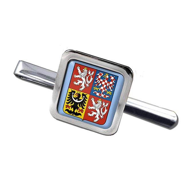Czech Republic Square Tie Clip