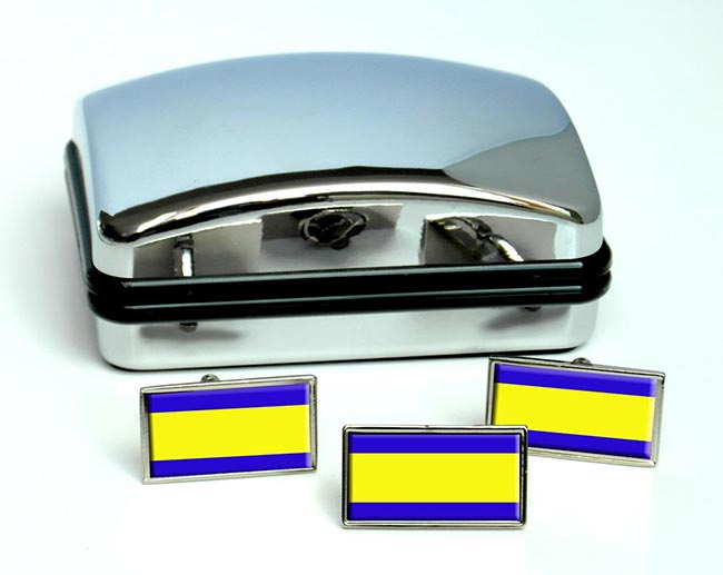 Debrecen Flag Cufflink and Tie Pin Set