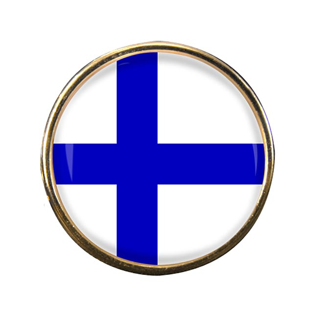 Finland Round Pin Badge