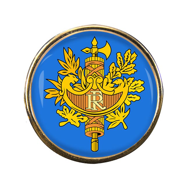 France (Crest) Round Pin Badge