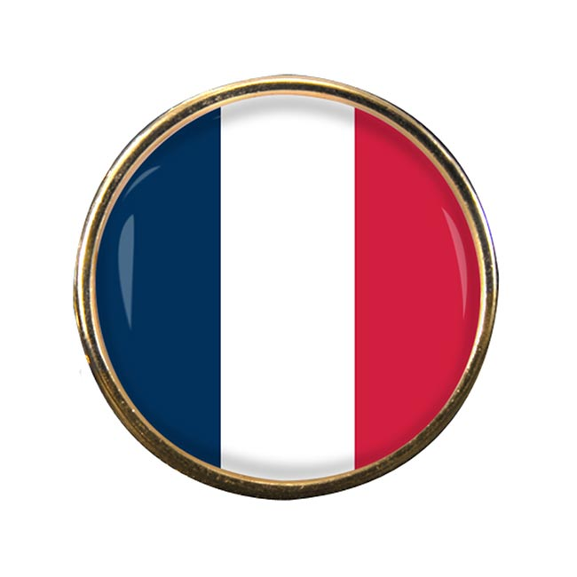 France (Flag) Round Pin Badge