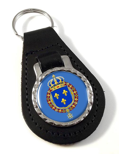Les grandes armes de France Leather Key Fob