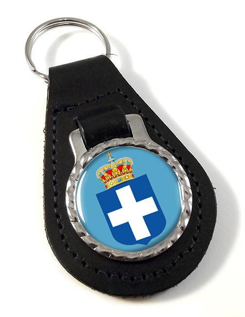 Kingdom of Greece  Leather Key Fob