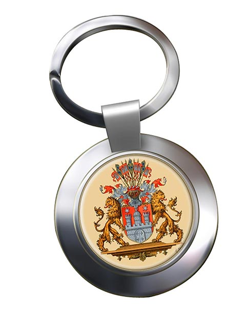Hamburg (Germany) Metal Key Ring