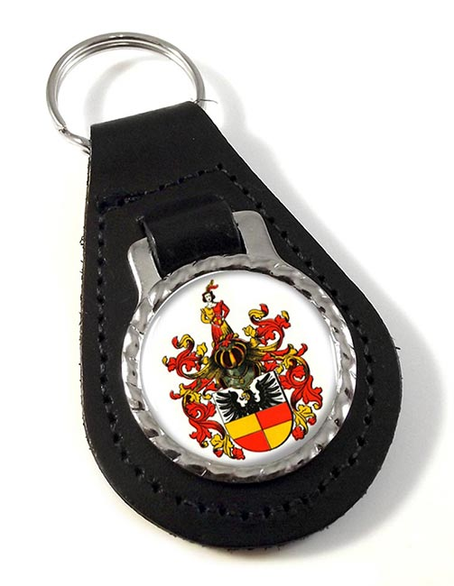Hildesheim (Germany) Leather Key Fob