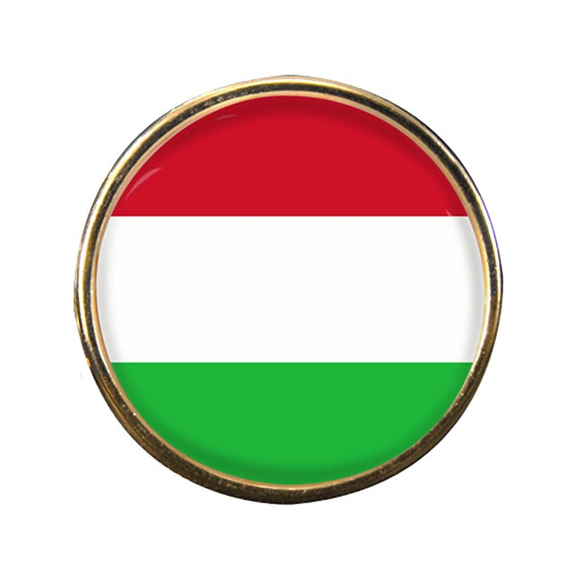 Hungary Round Pin Badge