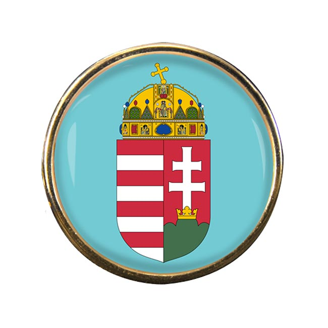 Hungary Coat of Arms Round Pin Badge