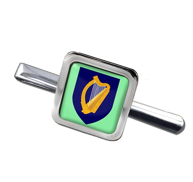 Coat of arms of Ireland Square Tie Clip