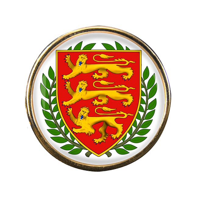 Jersey Round Pin Badge