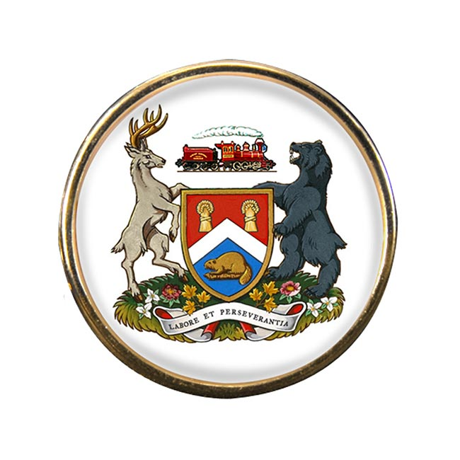 London (Canada) Round Pin Badge
