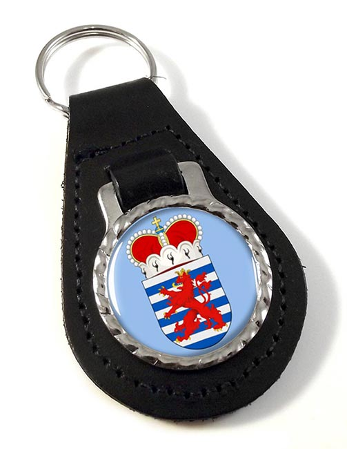 Luxembourg (Belgium) Leather Key Fob
