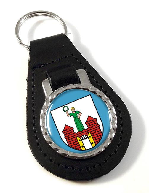 Magdeburg (Germany) Leather Key Fob